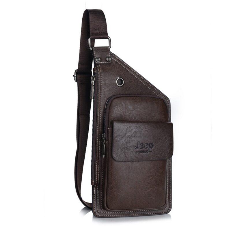 мужская сумка через плечо jeep buluo коричневый