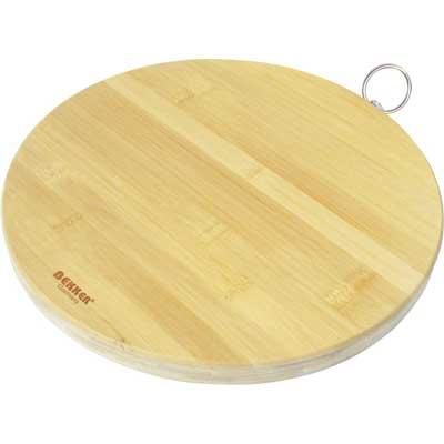"""доска разделочная """"bekker"""", бамбуковая, диаметр 30."""