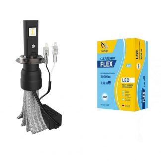 лампа led clearlight flex h7 3000 lm - купить.