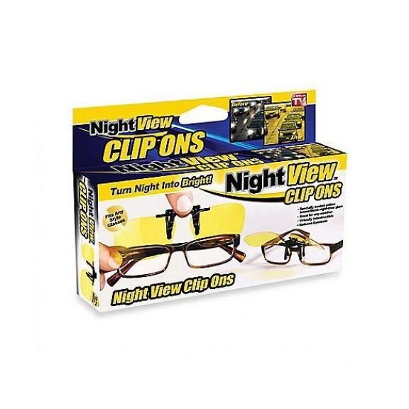 очки антибликовые night view clip ons купить оптом.