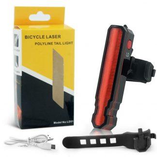 задняя велосипедная фара bicycle laser polyline tail.