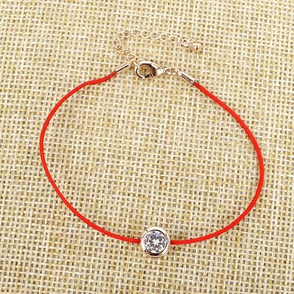 браслет красная нить с цирконами купить недорого, цена