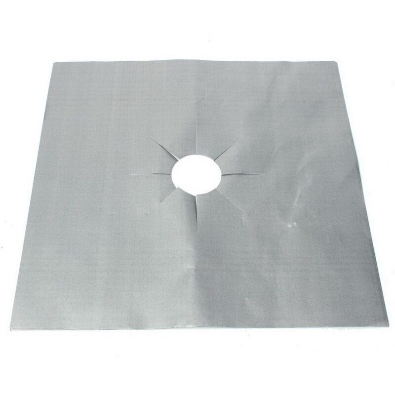 экран для газовой плиты из фольги серебристый
