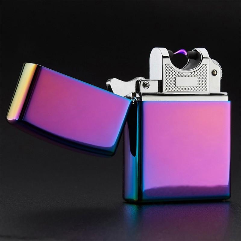 usb зажигалка электроимпульсная цветной глянец.