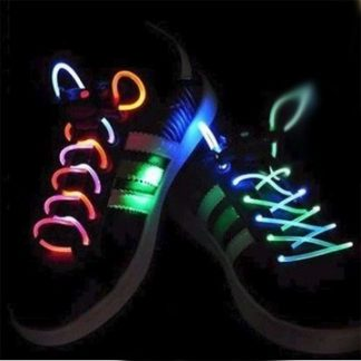 светодиодные шнурки - 3 режима свечения, цвет микс
