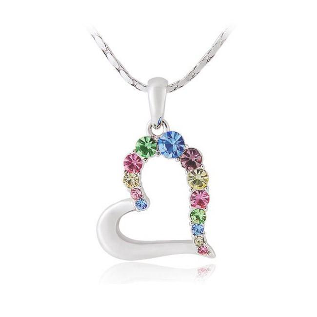 кулон «сердце в алмазах» на цепочке / цепочки.