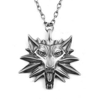 купить медальон ведьмака - кулон the witcher, серебро.