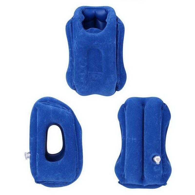 надувная подушка для путешествий синяя купить.