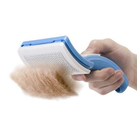 щетка для вычесывания кошек и собак pet zoom.