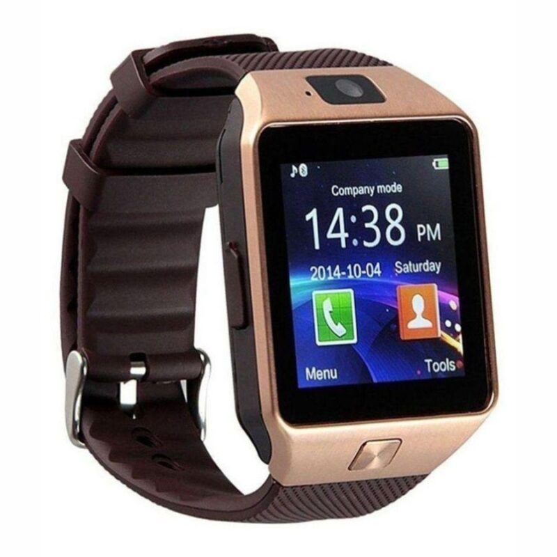 умные часы dz09 smart watch dz 09 золото.