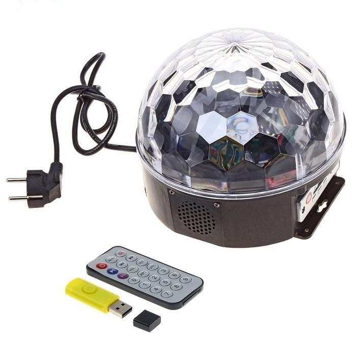 светодиодный диско шар, светомузыка , дискотека.