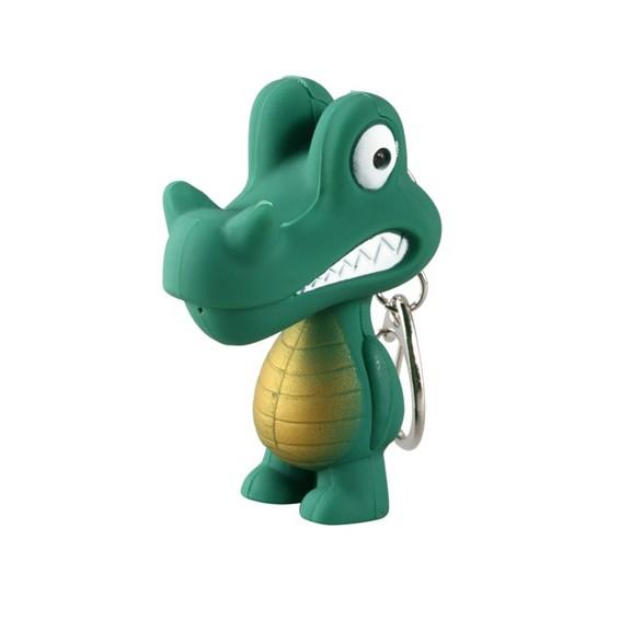 брелок крокодил с горящими глазами и звуком купить.