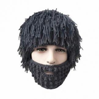 лохматая шапка с бородой - эпaтаж, серая в москвe.