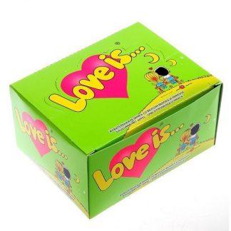 жвачка love is - яблоко-лимон (блок 100 шт) купить.