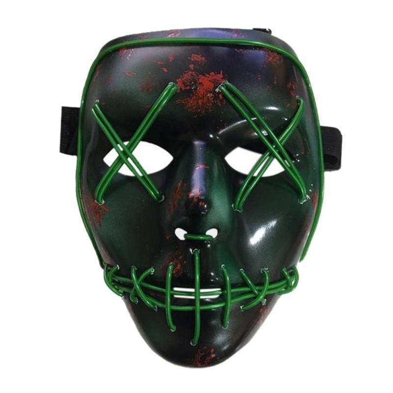 светящиеся неоновые маски из фильма «судная ночь.»
