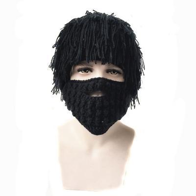 лохматая шапка с бородой - эпaтаж, черная ? купить.