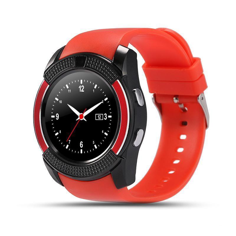 умные часы+телефон smart watch v8 (красный).