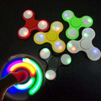 спиннер светящийся - пластик, цвет микс
