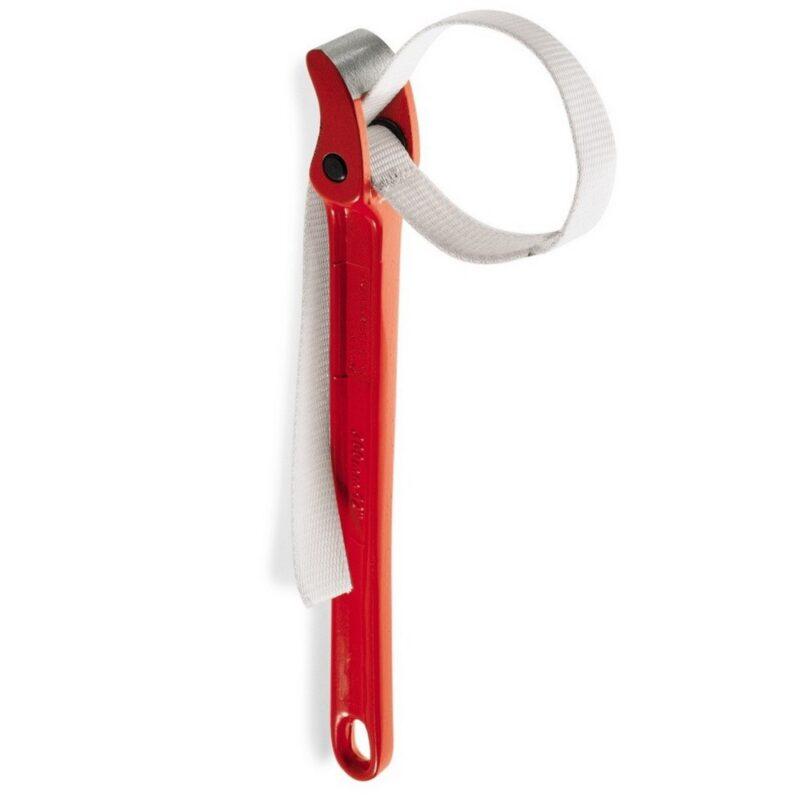 ремешковый ключ текстильный - 12 дюймов, красный.