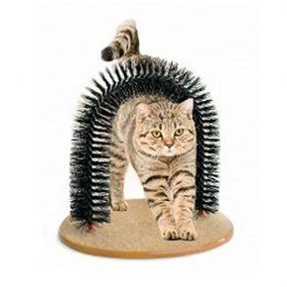 когтеточка со щеткой «кошачье удовольствие» в рузе