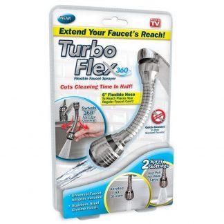 гибкий кран распылитель турбо flex 360 раковина.