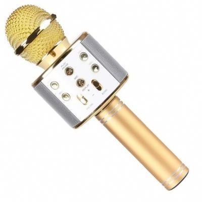 беспроводной микрофон для караоке ws-858 (золото).