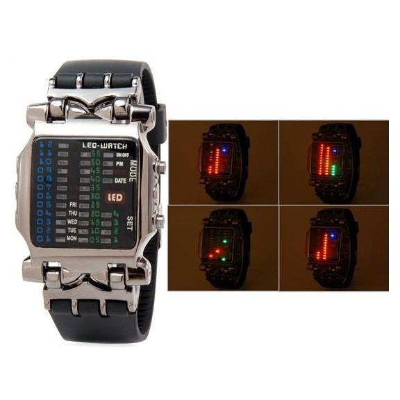 "купить брутальные led часы - японский дизайн ""краб."""