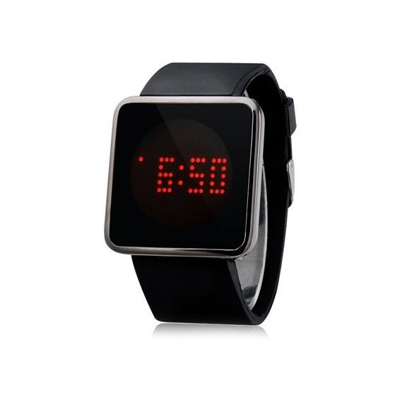 ультратонкие силиконовые led часы nexer g1206.