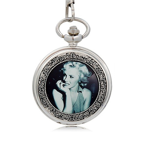 карманные часы с изображением мерилин монро.