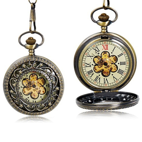 """карманные часы с крышкой """"цветок распродажа."""