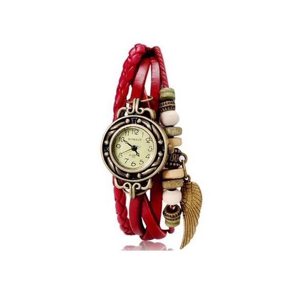 womage 630 модные женские часы браслет, красные.