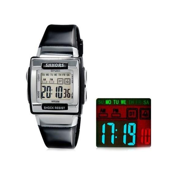 водонепроницаемые led часы shors sh-358.