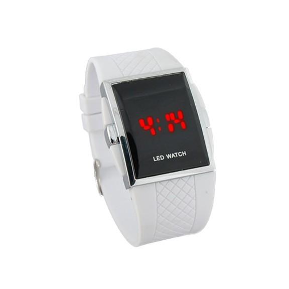 купить светодиодные часы - белые | мелеон