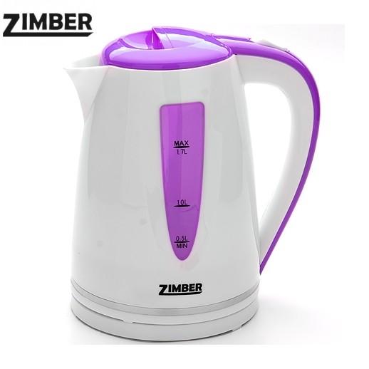 """чайник электрический """"zimber"""", диск, 1,7 литра, 2200 вт."""