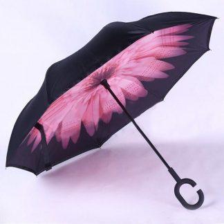 зонт наоборот (обратный зонт) up-brella цветок.