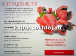 Жидкий каштан для похудения купить в интернет-магазине